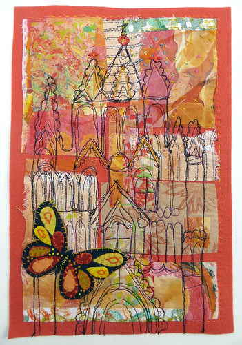 Parroquia de San Miguel Arcangel_Jane LaFazio_textile_  11 and a half by 8 inches _october 2014