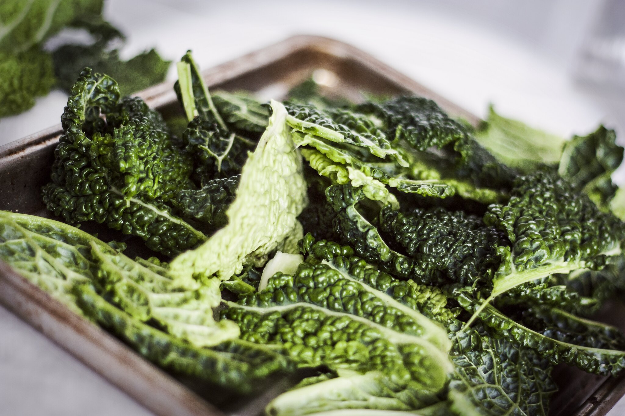 Green kale crisps