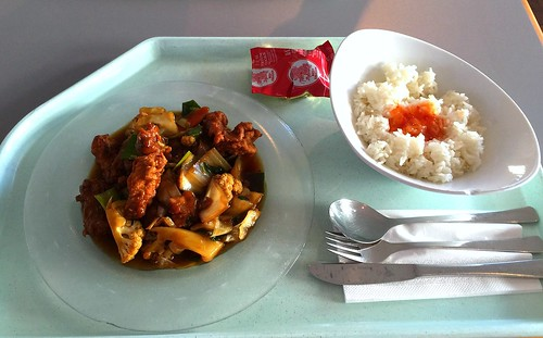 Baked coalfish & redfish with vegetables in coconut milk sauce / Gebackener Seelachs & Rotbarsch mit Gemüse in Kokosmilchsauce