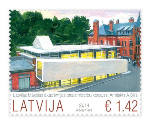 Latvijas Mākslas akadēmijas pastmarka