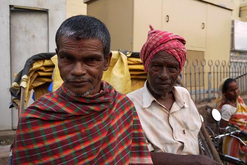 Rickshaw drivers in Puri, Orissa