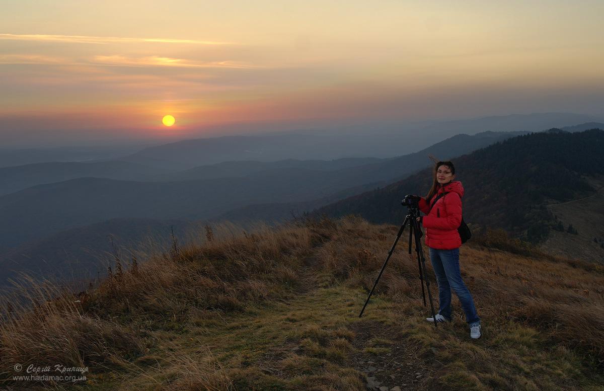 Sunrise in Skoliwski Beskydy