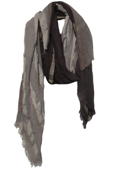 Freedom Plain Charcoal Ombre Scarf