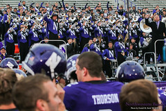 """Go U, Northwestern!"" ::  	   The Northwestern University 'Wildcat' Marching Band performs at Ryan Field as Northwestern Football hosts Wisconsin on October 4, 2014.  Photo by Daniel M. Reck '08 MSEd."