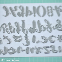 Sizzix Thinlits Die Set 38PK - Brush Lowercase Alphabet