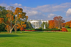 The White House in fall, Washington D.C.