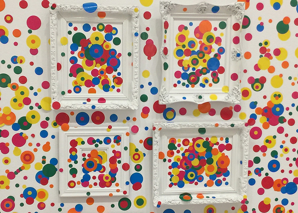 'Framed Pictures in The Obliteration Room' -- The Kusama Exhibit at the Hirshhorn (DC) 2017
