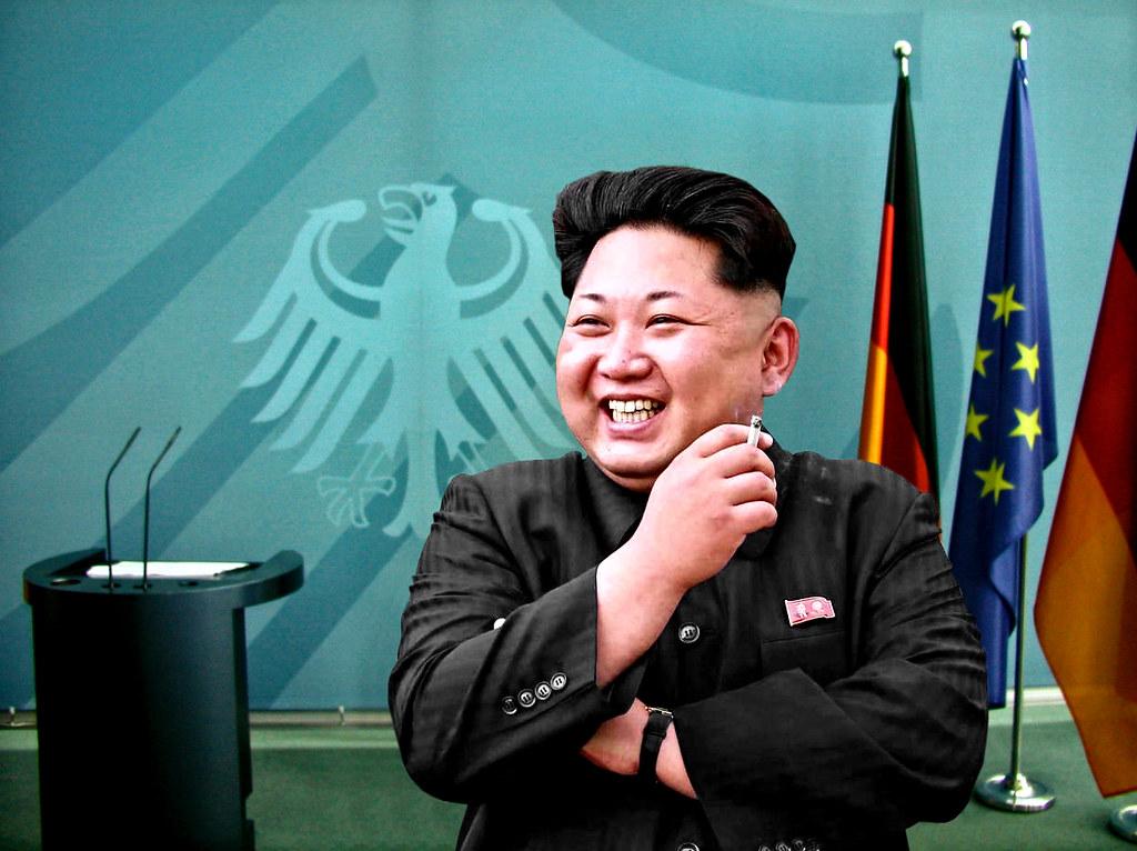 Kim Jong-un visiting Berlin.