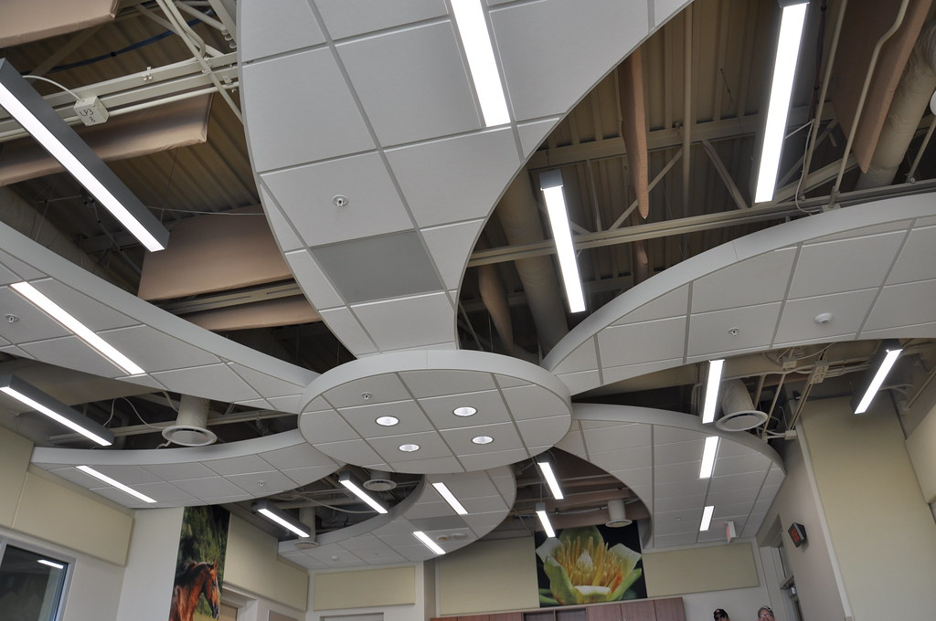 Barkley Elementary exposed ductwork