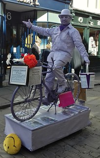 The Pink Cyclist In York Collecting For London Terror Attack