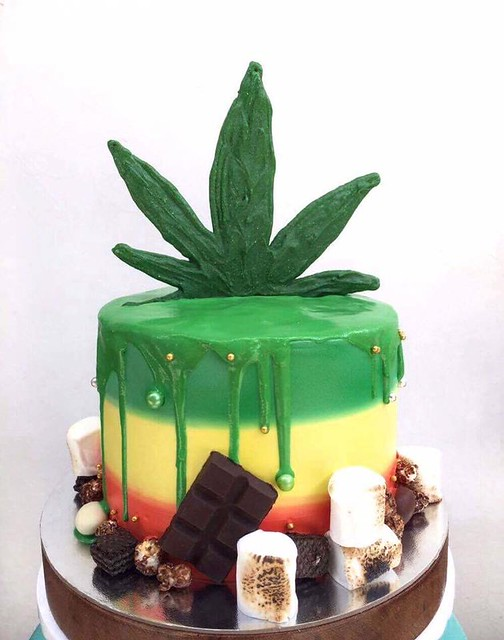 Rastafarian Themed Cake by Mark Lou Marquez of Soft Peaks Confections