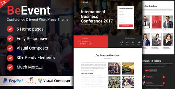 BeEvent WordPress Theme free download