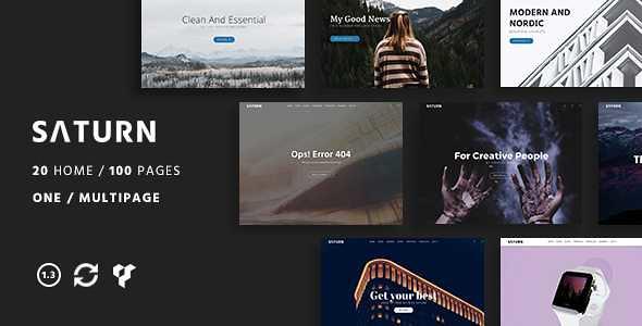 Saturn WordPress Theme free download
