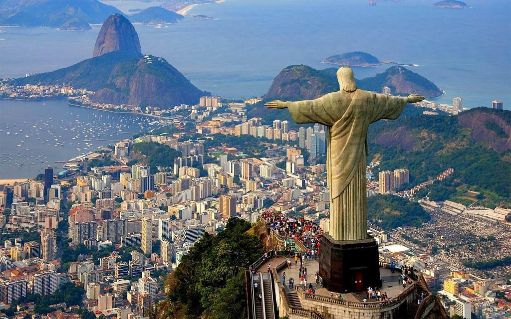 Christ the Redeemer, South America's Rio de Janeiro Copacabana Beach