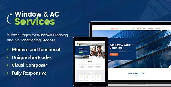 Window Cleaning WordPress Theme free download