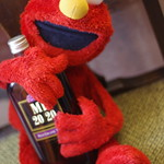 Stingy boozer Elmo