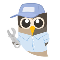 Owly Repair Man Mechanic from Hootsuite