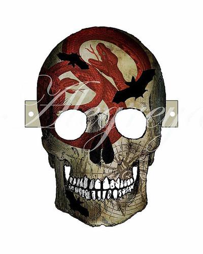 Printable Skull Mask - Alegreya
