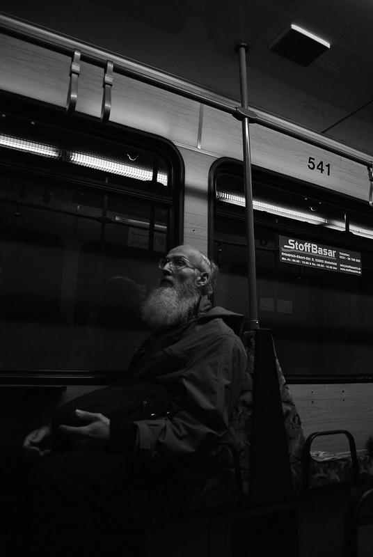 #53X Urban Photo; the man who can't be moved.