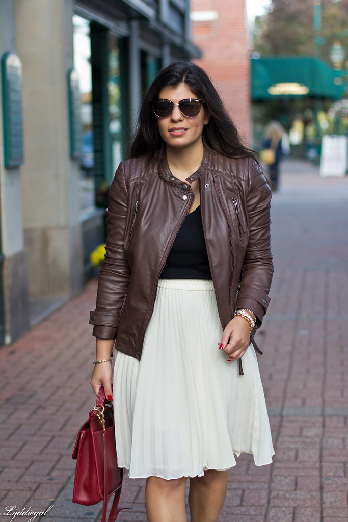 pleated skirt, leather jacket, leopard pumps-7.jpg