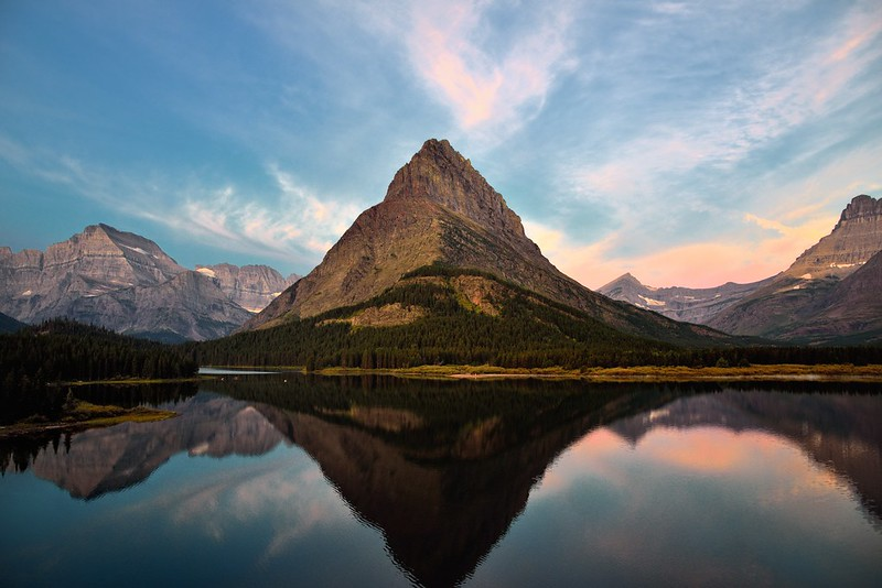 Top 10 US National Parks: Reflections of Grinnell Point in Glacier National Park