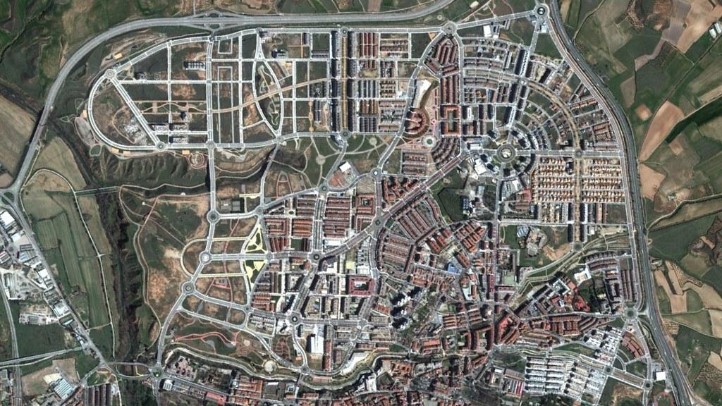 guadalajara, germaníntown, después, urbanismo, planeamiento, urbano, desastre, urbanístico, construcción, rotondas, carretera