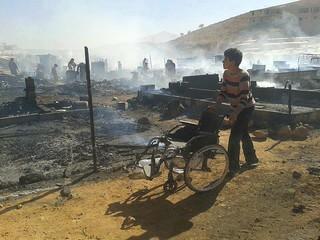 سوريون في عرسال لبنان
