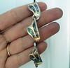 Vintage Alpaca and Abalone Link Bracelet