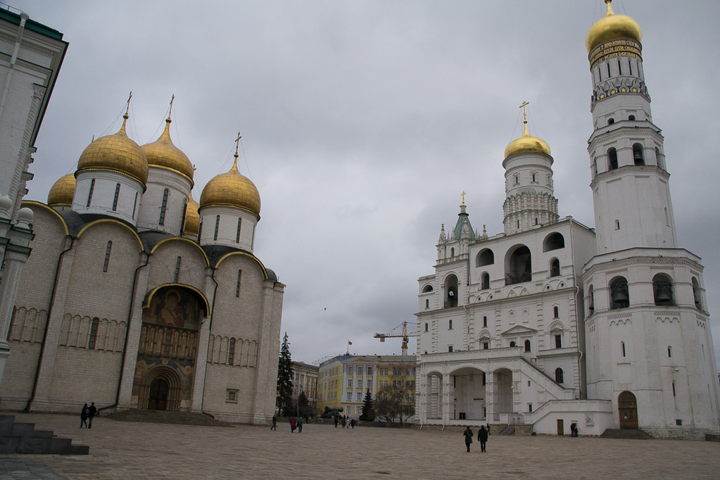 Outside the cathedrals at the Kremlin