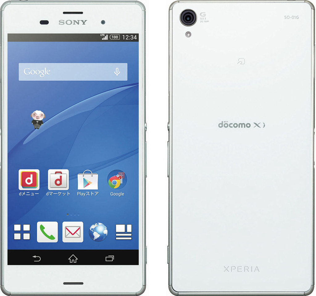 Xperia Z3 SO-01G full scale product image