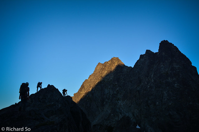 Morning light on the east ridge of Serratus