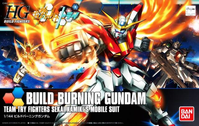 HGBF Build Burning Gundam - Box Art