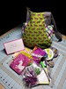 Thank you for my lovely tote and all the purple and lime green goodies!  Woot woot!