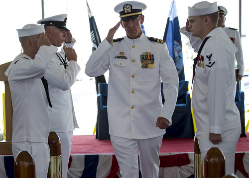 SAN DIEGO (NNS) -- The mine countermeasure ship USS Avenger (MCM 1), was decommissioned after more than 27 years of naval service during a ceremony on board Naval Base San Diego.