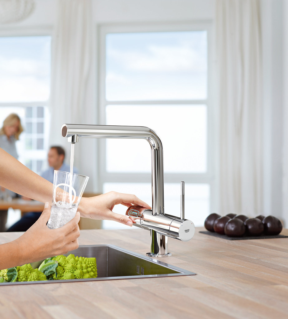 Drink filtered water straight from the Grohe Blue tap