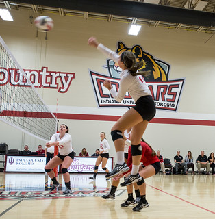 Women's volleyball spikes season with new records