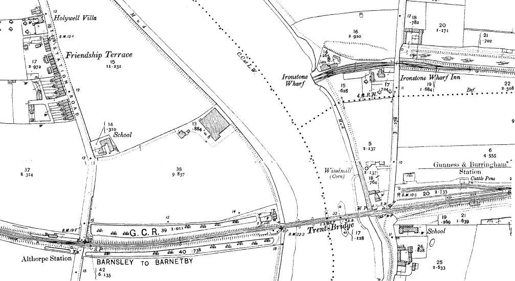 Keadby Bridge Map 1907