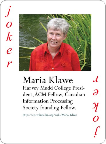 Maria Klawe - Notable Women in Computing 2014 Joker -Mock-up of card_J1