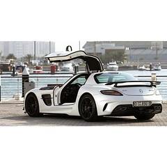Wings up .  _______  #مرسيدس_بنز #MercedesBenz #SLS #AMG #BlackSeries #سيارات #الخليج #new #motors #سيارات_العرب #arabcars #arabiancar #سيارات_رياضية #supercars #sportcar #supersport #hypercar #cargram #exotics #سيارات_فارهة #luxury #style #luxurycar #lux
