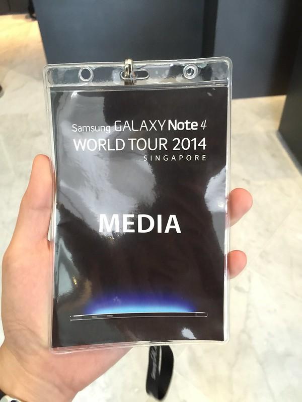 Samsung Galaxy Note 4 World Tour 2014 Singapore