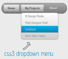 Css3 Dropdown menu for Blogger