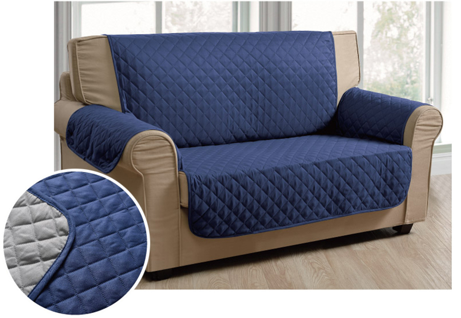 Luxury Microfiber Pet Dog Reversable Loveseat Small Sofa
