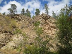 Cliffs above