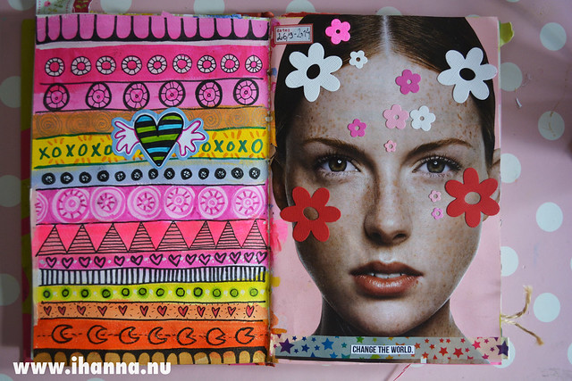 Art Journal: Patterns and Flowers