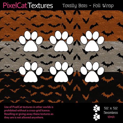 PixelCat Textures - Totally Bats - Foil Wrap