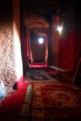 Inside Bet Mercurios, Lalibela, Ethiopia