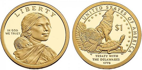 *1 Dolár USA 2012, Treaty with the Delawares