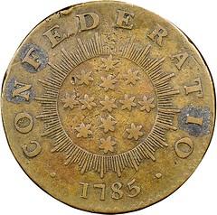 1785 Washington Confederatio Copper reverse
