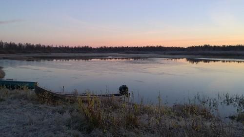 winter sunrise finland river kittilä ounasjoki pureview nokialumia1020