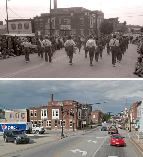 Downtown Lebanon, KY: Main Street and Spalding Avenue, 30 Years Apart